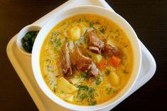Ciorba de legume cu afumatura si smantana | Retete culinare cu Dana Valery Romanian Food, Thai Red Curry, Ethnic Recipes, Essen