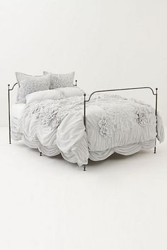 Georgina Duvet Cover - Anthropologie.com look at that bed skirt ... I want this comforter but its sold out...so sad! They only have twin left
