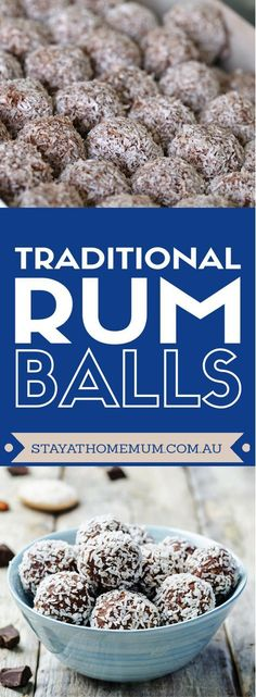 Traditional Rum Balls | Stay at Home Mum. The original old fashioned recipe that uses Weetbix.
