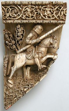 Plaque Fragment from Saddle,late 19th  20th century,Spanish,ivory.