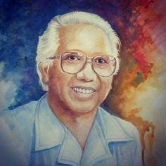 """Yus Badudu, Guru Bahasa Setanah AirTVRI 1977, saat masih sendiri, punya program pendidikan yang sangat populer """"Pembinaan Bahasa Indonesia"""". Sepertinya guru Bahasa Indinesia setanah air mewajibkan siswanya menonton siaran tsb. Namun, acara tsb memang ditonton banyak peminat. Bahkan, sempat tumbuh anggapan, jika Badudu sudah mengatakan demikian, ya sudah kita terima sajalah.Prof.Dr.H.Jusuf Syarif Badudu memang menawan. Bagaimana beliau menulis dan berbicara sama baiknya. Boleh jadi karena… Inktober, Painting, Color, Instagram, Colour, Painting Art, Paintings, Colors"""