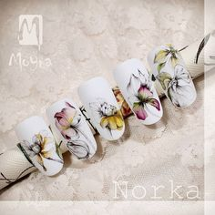 Botanical Watercolor Painting from Norka #moyra#wearecolours#handpainted#watercolor#botanicalpainting#norkanaildesign @norkanaildesign