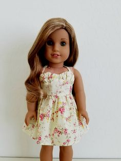 Yellow Floral Sweetheart Dress by BuzzinBea on Etsy