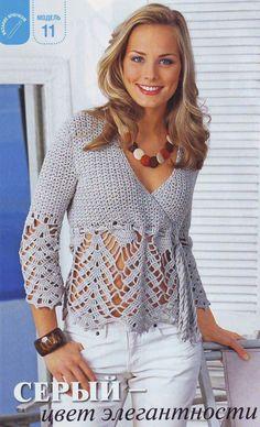 blusa crochet - Pesquisa do Google                                                                                                                                                                                 Mais