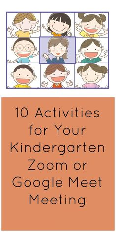 Looking for activities for your preschool, kindergarten, or first grade Zoom calls or Google online meetings? Try these virtual ideas for fun, learning, and community building. Ideas include puppets, games, show and tell, scavenger hunts, songs, special guests, dress-up days, mystery bag,  and science experiments. Ideas for a online meeting agenda are also shared.