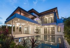 Modern house designed by residential architect Residential Architect, Architect Design, Style At Home, Beautiful Buildings, Beautiful Homes, Dream Pools, Big Houses, Modern Luxury, Home Fashion