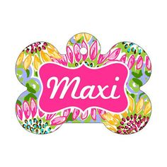 Lilly Pulitzer Inspired Pet Tag | Pet ID Tag | Custom Pet Tag | Lilly Inspired Pet | Dog Tag  #CustomPetTag #PetTag #PetIdTag #LillyPulitzer #CatTag #DogCollarTag #DogTag #LillyInspiredPet #LillyPulitzerPet #PersonalizedPetTag