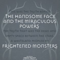 Quote from SHADOW AND BONE by Leigh Bardugo Best Quotes From Books, Book Quotes, Me Quotes, Ya Books, Good Books, Shadow Bone, The Darkling, The Grisha Trilogy, Leigh Bardugo