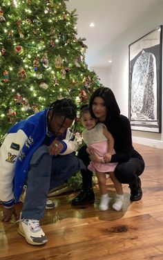 Kylie Jenner and Travis Scott with Stormi on We Heart It