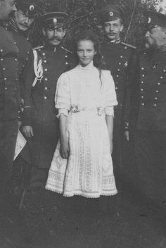 Grand Duchess Tatiana and officers