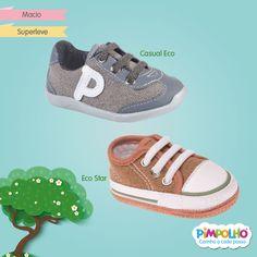 A Pimpolho, além de fofa e linda, é sustentável! :D Nossos sapatinhos das linhas Eco Star e Casual Eco são feitos de material ecológico e prometem muito conforto para os pezinhos dos bebês!