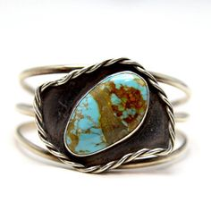 Vintage Native American Sterling Cuff with by HoiPolloiGallery