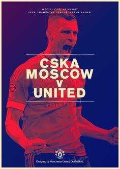 Match poster. CSKA Moscow v Manchester United, 22 October 2015. Designed by @ManUtd.