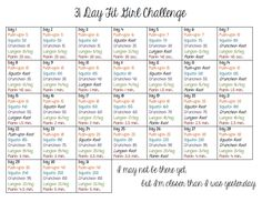31 Day Fit Girl Challenge
