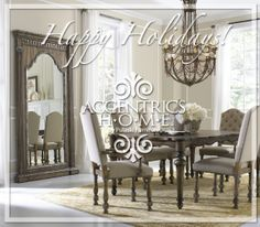 Accentrics Home Lucia Dining Set w/ Amethea Dione Chairs French Country Decorating, Decor, Dining Room Design, Dining Room Furniture, Furniture, Dining Room Decor, Home Decor, Room Design, Traditional Dining Rooms