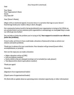 Sample Donation Request Letter  How To Write A Donation Request