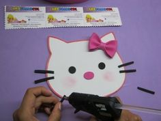 HELLO KITTY EN FOAMY O GOMAEVA APLIQUE PARA BOLSO DE NIÑAS CON MOLDES - YouTube
