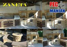 Outdoor kitchen BBQ and pizza oven Pecmaniak