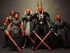 "Star Wars Custom ""Darth Maladi,Stryfe,Havoc,Wyyrlok, Kruhl"" Plagueis"