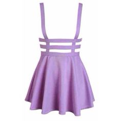Oh my god give me these NOW! Purple suspender skirt xxx  (•=•)