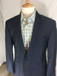 MENS BANANA REPUBLIC DESIGNER COAT SUIT JACKET BLAZER CASUAL BLUE 40 SHORT 40S