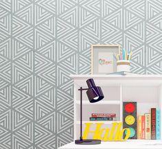 Geometric Wall Stencil - Modern Interir Design Stencil - Reusable Stencil For Walls