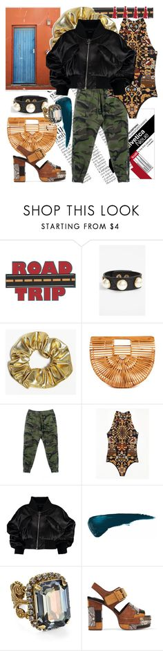 """Zipped Up, Buckled Up"" by crazyzanyfake ❤ liked on Polyvore featuring Topshop, Boohoo, Almost Famous, Sorrelli and See by Chloé"