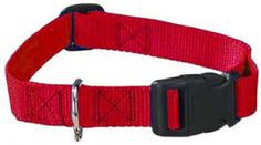 Guardian Gear Nylon Adjustable Dog Collar with Plastic Buckles, 5/8-Inch, Red - http://www.thepuppy.org/guardian-gear-nylon-adjustable-dog-collar-with-plastic-buckles-58-inch-red/