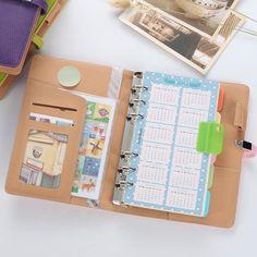 Cute spiral notebook,fine leather agenda planner organizer/binder diary weekly…