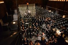 Universal Light and Sound - Recent Events: The Foundry (LIC, NY): Candle Lite Lanterns w/ Pin Spots and Mini String Lights (Cafe Lights / Bistro Lights)
