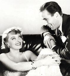 Bette Davis and Humphrey Bogart
