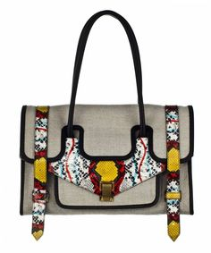 proenza schouler small linen printed python. o.m.g. and yes, it's expensive.