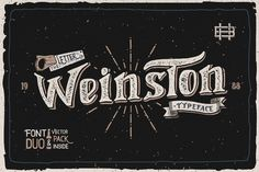 Weinston Typeface + Extras by Heybing Supply Co. on @creativemarket