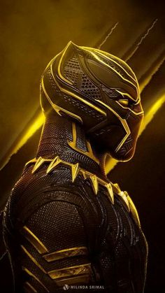 Marvel - Black Panther in Yellow Black Panther Marvel, Black Panther Art, Marvel Vs, Marvel Heroes, Marvel Characters, Marvel Movies, Black Panther Hd Wallpaper, Thanos Avengers, Deadpool Wolverine