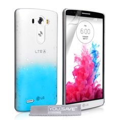 YouSave LG G3 Raindrop Hard Case - Blue-Clear | Mobile Madhouse