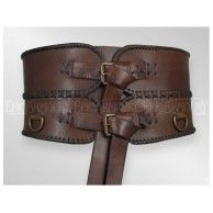 Brown Leather Broad Belt - Epic Armoury Canada