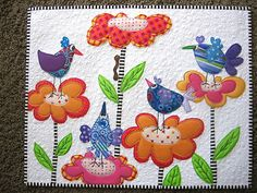 I love bird and flower quilts