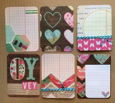 Handmade Project Life Cards 3x4 4x6 by jessicabree on Etsy