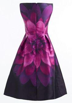 3974d4e6e6a4 Black Flowers Print Pleated Zipper Round Neck Maxi Dress