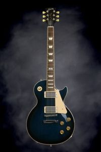 Gibson Les Paul Traditional - Manhattan Midnight | Sweetwater.com | Solidbody Electric Guitar with Non-chambered Mahogany Body, Figured Maple Top, Mahogany Neck, Bound Rosewood Fretboard, 2 Humbucking Pickups, and Hardshell Case - Manhattan Midnight