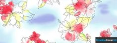 Floral Watercolour Pattern Facebook Cover Timeline Banner For Fb31 Facebook Cover