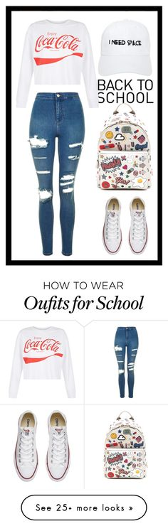 """""""#Back2School #MyStyle (description)"""" by x-essie-x on Polyvore featuring Topshop, New Look, Converse, Anya Hindmarch, NASASEASONS, MyStyle and back2school"""