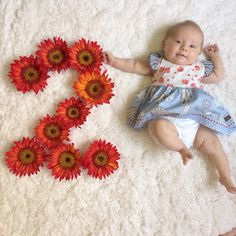 Month to month baby photos