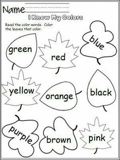 57 Best Color Worksheets images in 2019 | Kindergarten, Preschool ...