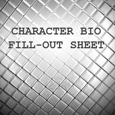 Character Bio Fill-Out Sheet by LadyLombax on deviantART