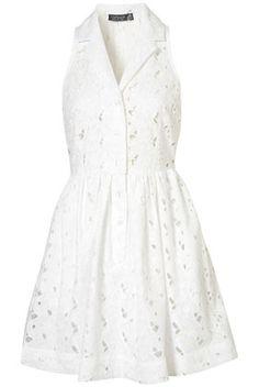 I wish I could make this! Crochet Sleeveless Shirt-dress