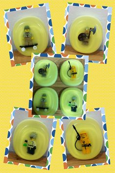 Poppin' Pineapple Soap with Lego Surprise. $6.50, via Etsy.