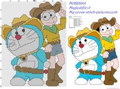 doraemon and nobita free cross stitch pattern