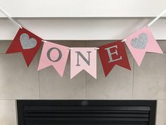 Sweetheart One Banner Heart One Banner First Birthday