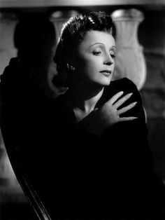 Edith Piaf ---- Greatest singer ever ---- French sparrow,  Street singer... to composer of some of the most moving French songs of all time. If you've never listened to her, you must! ___